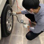 タイヤの空気圧チェック!